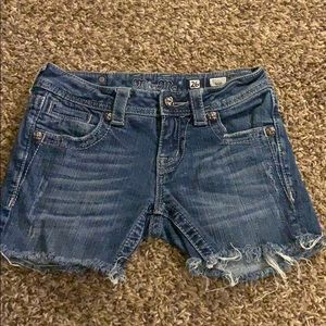 Blue MISS ME Cut Off Jean jeans Shorts Size 26